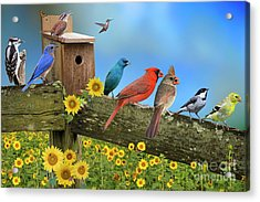 Birds Of A Feather Acrylic Print by Bonnie Barry