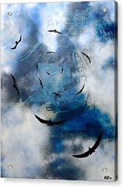 birds of apocalypse VI Acrylic Print by Poul Costinsky