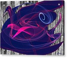 Acrylic Print featuring the digital art Birds Of Paradise by Maciek Froncisz