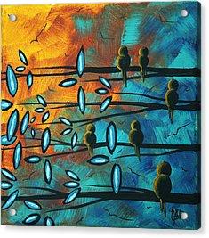 Birds Of Summer By Madart Acrylic Print by Megan Duncanson