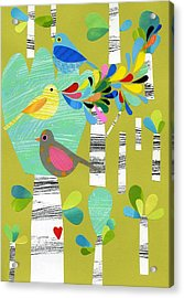 Birds Of The Forest Acrylic Print