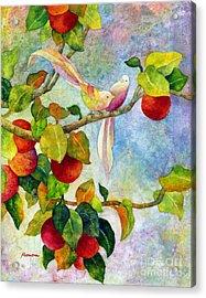 Birds On Apple Tree Acrylic Print