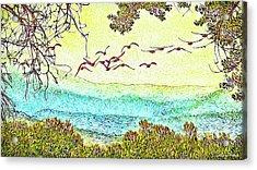 Birds Over Horizon - Boulder County Colorado Acrylic Print