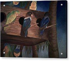 Birds Resting Acrylic Print