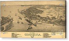 Birdseye View Of Cedar Key, Florida Acrylic Print by Celestial Images