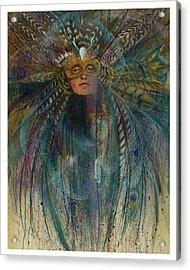 Birdtribe Magic Acrylic Print by Pamela Mccabe