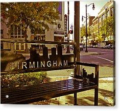 Birmingham Bench Acrylic Print