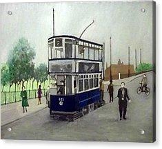 Birmingham Tram With Figures Acrylic Print