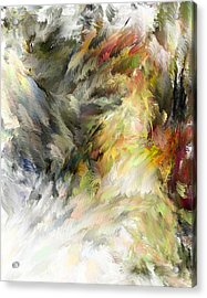 Acrylic Print featuring the digital art Birth Of Feathers by Dale Stillman