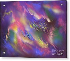 Acrylic Print featuring the digital art Birth Of The Phoenix by Amyla Silverflame