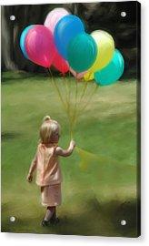 Birthday Balloons Acrylic Print by Lisa  Westrope