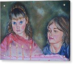 Birthday Candles Acrylic Print by Sandra Valentini