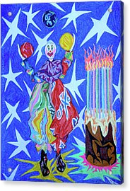 Birthday Clown Acrylic Print