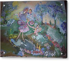 Acrylic Print featuring the painting Birthday Fairy by Judith Desrosiers