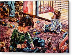 Acrylic Print featuring the painting Birthday Party Or A Childs View by Kendall Kessler