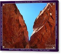Birthing Cave Sedona Acrylic Print