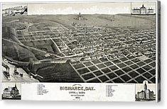 Bismarck, North Dakota, The Capital Acrylic Print by Everett