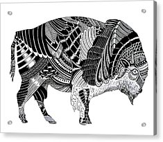 Bison Acrylic Print by JF Mondello