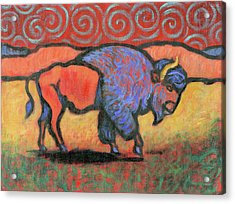Bison Totem Acrylic Print
