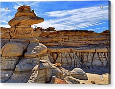Bisti Badlands Formations - New Mexico - Landscape Acrylic Print by Jason Politte