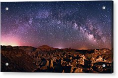 Bisti Badlands Night Sky - 2 Acrylic Print