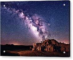 Bisti Badlands Night Sky Acrylic Print
