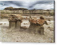 Acrylic Print featuring the photograph Bisti Mushrooms by Alan Toepfer