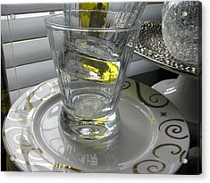 Acrylic Print featuring the photograph Bistro Plates And Glasses by Lindie Racz