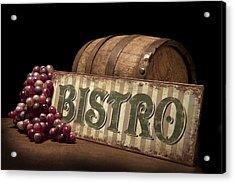 Bistro Still Life Iv Acrylic Print by Tom Mc Nemar