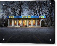 Bite Me Bbq Acrylic Print by Fred Lassmann