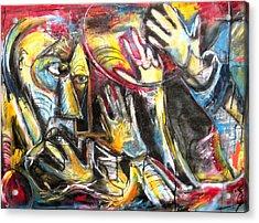 Bite The Hand That Feeds  Acrylic Print by Jon Baldwin  Art