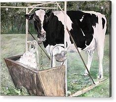 Bitter Milk Acrylic Print by Leah Tomaino
