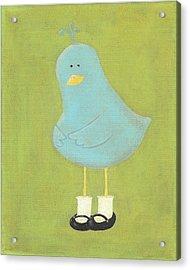 Bitty Bird's New Shoes Nursery Art Acrylic Print by Katie Carlsruh