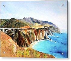 Bixby Bridge Big Sur Coast California Acrylic Print