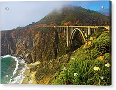 Bixby Bridge Big Sur Acrylic Print by Garry Gay