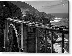 Bixby Bridge Big Sur II Bw Acrylic Print