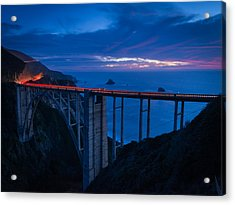 Bixby Canyon Bridge Sunset Acrylic Print
