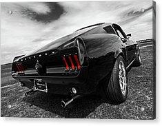 Black 1967 Mustang Acrylic Print