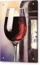 Black And Burgundy Acrylic Print by Spencer Meagher