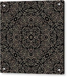 Black And Gold Filigree 002 Acrylic Print