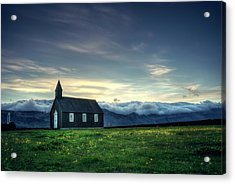 Acrylic Print featuring the photograph Black And Isolated by Peter Thoeny