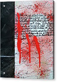 Acrylic Print featuring the painting Black And Red 8 by Nancy Merkle