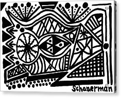 Black And White 4 Acrylic Print