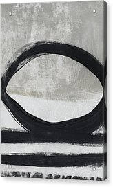 Black And White Abstract 2- Art By Linda Woods Acrylic Print