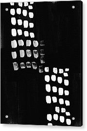 Black And White Abstract- Art By Linda Woods Acrylic Print by Linda Woods