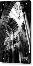 Black And White Almudena Cathedral Interior In Madrid Acrylic Print