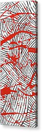 Black And White And Red All Over 1 Acrylic Print
