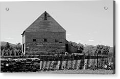 Black And White Barn Acrylic Print