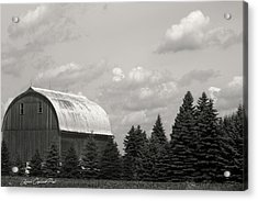 Black And White Barn Acrylic Print by Joann Copeland-Paul