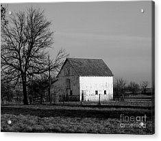 Black And White Barn Ll Acrylic Print by Michelle Hastings